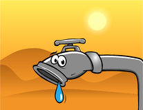 Drought desert. Cartoon illustration of a drought desert Royalty Free Stock Image