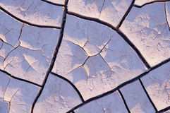 Drought, dry mud in the desert Stock Image