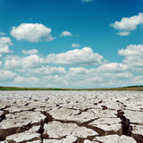 Drought earth and dramatic sky Stock Photos