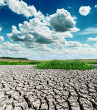 Drought earth and dramatic sky Stock Photo