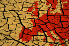 Drought in europe Royalty Free Stock Photo