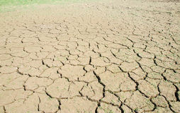Drought, the ground cracks, no hot water, lack of moisture Royalty Free Stock Photography