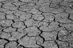 Drought, the ground cracks, no hot water, lack of moisture Royalty Free Stock Image
