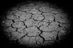 Drought, the ground cracks, no hot water, lack of moisture. Stock Photo
