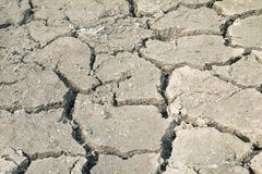 Drought, the ground cracks, no hot water, lack of moisture. royalty free stock photo