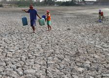 Drought in indonesia Stock Image
