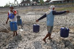 Drought in indonesia Royalty Free Stock Photo