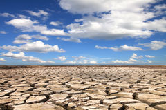 Drought land against Royalty Free Stock Image