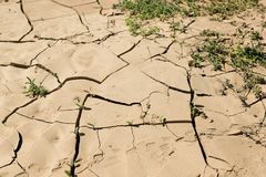 Drought land, cracked earth - Fuerteventura Island, Spain. Drought land, cracked earth on Fuerteventura Island, Spain Stock Images