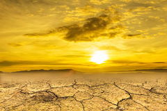 Drought land. And hot weather royalty free stock photography