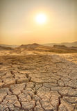 Drought land and hot weather Royalty Free Stock Photo