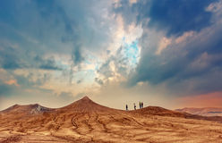 Drought land and hot weather Stock Images