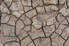 Drought. Land in land of Thailand Royalty Free Stock Photo