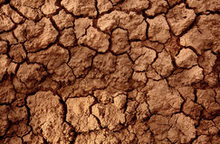 Drought Land. Represent in cracked soil mud because of global warming and long hot dry season without rain. Can be used as background or texture royalty free stock images