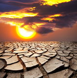 Drought lands Stock Photography