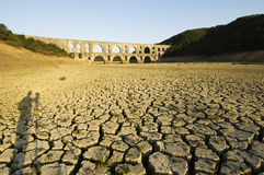 Drought and Maglova Aqueduct, Istanbul-Turkey Stock Images