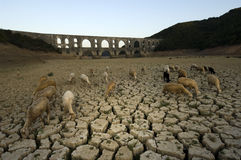 Drought and Maglova Aqueduct, Turkey Royalty Free Stock Photography