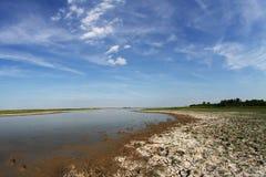 Drought in natural reserve Slano kopovo Royalty Free Stock Image