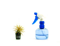 Drought plant and sprayer Stock Photo