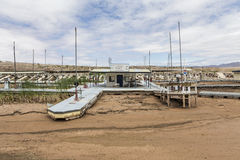 Drought Ravaged Marina on Lake Mead Royalty Free Stock Photography