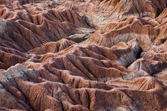 Drought red orange sand stone rock formation in. Tatacoa desert, Huila, Colombia Stock Images