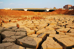 Drought river. Texture of shrinkage earth cracks,Cracked and dried mud texture royalty free stock photo