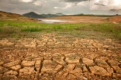Drought soil. In brazilian dam royalty free stock photo