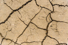 Drought soil. Dried drought soil close up Royalty Free Stock Image