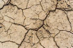 Drought soil. Dried drought soil close up Stock Photo