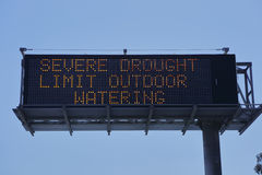 DROUGHT in Southern California - limit watering Royalty Free Stock Photo