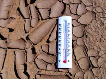 Drought Thermometer royalty free stock photos