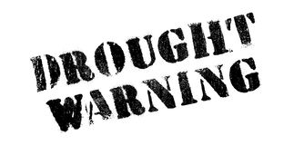 Drought Warning rubber stamp Stock Images