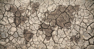 Drought world map Royalty Free Stock Photography