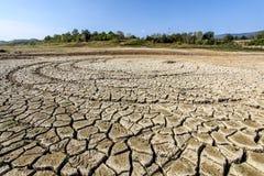 Droughted lake Vogrscek Stock Image