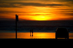 Drove in time to catch a sunset near Ocean Shores Royalty Free Stock Image