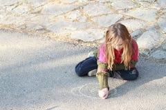 drowing κορίτσι λίγα στοκ φωτογραφία με δικαίωμα ελεύθερης χρήσης