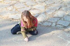 drowing κορίτσι λίγα στοκ φωτογραφίες