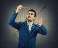 Drowing het toenemen grafiek Royalty-vrije Stock Foto