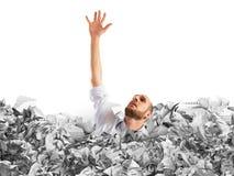 Drown between worksheets Stock Image