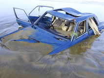 Drowned car Royalty Free Stock Photography