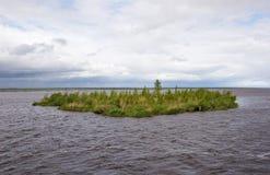 Drowned island on Beloe lake Royalty Free Stock Image