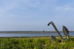 Drowned Land of Saeftinghe. Anchor at Drowned Land of Saeftinghe royalty free stock photography