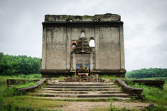 Drowned temple Royalty Free Stock Images