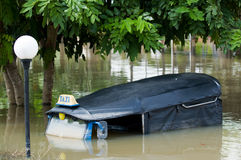 Drowned tuk-tuk taxi in Thailand Stock Photos