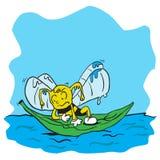 Drowning bee Stock Image