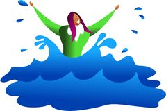 Drowning business Royalty Free Stock Image