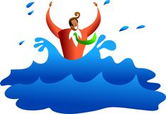 Drowning business Stock Image
