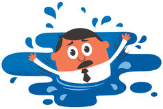 Drowning Royalty Free Stock Photography