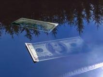 Drowning dollar 3d rendering royalty free illustration