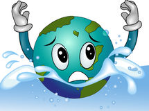 Drowning Earth Royalty Free Stock Images
